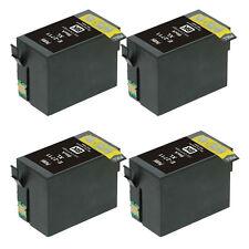 4 Big Black Ink Cartridge for Epson WorkForce WF3620DWF WF3640DTWF WF7110DTW  T