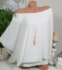 Lockre Sitzende Damenblusen,-Tops & -Shirts im Blusen-Stil mit Fledermausärmel-Ärmelart ohne Muster