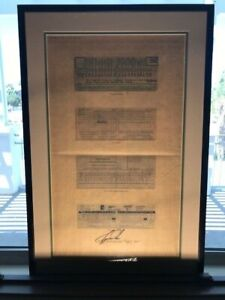 Tiger Woods autograph with rare score cards