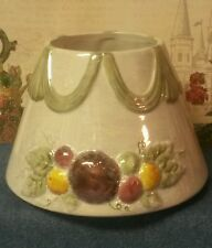 Large Yankee Candle Jar Shade With Swag Drape and Frosted Fruit