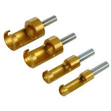 Scheibenschneider 4 tlg. Satz titanbeschichtet 6,8,13,16 mm Zapfenschneider