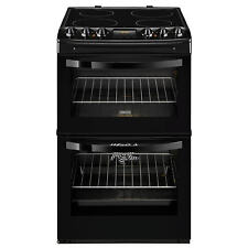Zanussi ZCV46200BA 55cm Black Double Oven Electric Cooker Ceramic Hob HA1132