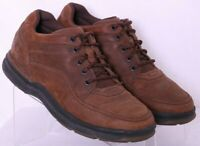 Rockport 500657 Brown Leather Lace-Up Oxford Sneaker Shoes Men's US 8.5