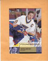 2002 03 UD FOUNDATIONS WAYNE GRETZKY #87 ST LOUIS BLUES