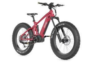"2021 Matte Red Jeep E-Bike Brand New 19"" 1000 Watt"