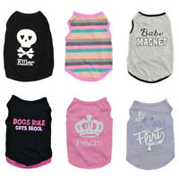 Pet Small Dog Puppy Vest T-Shirt Coat Pet Clothes Apparel XS/S/M/L Summer Shirt