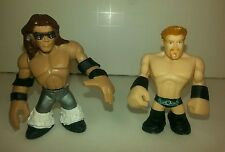 """WWE Rumblers John Morrison and other wrestler figures 2"""" lot of 2 from 2010."""