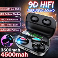 Mini In-Ear TWS 9D KopfhöRer bluetooth 5.0 Kabellos Stereo Headset Ladebox Mit