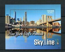 Tanzania 2016 estampillada sin montar o nunca montada famoso horizonte de la ciudad de Nueva York NY2016 1v S/S rascacielos sellos