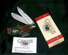 """Camillus 10D Knife American Wildlife Series 1970's """"Charging Bear"""" W/Packaging"""