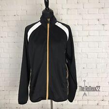 Starter Men's Jacket Size Med Zip Up Track Lightweight Black Tan