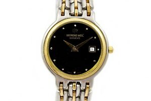 Vintage Raymond Weil Geneve Stainless Steel Two Tone Quartz Ladies Watch 939