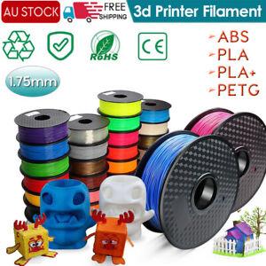 3D Printer Filament PLA/ PETG/ABS/PLA Silk- 0.02mm 2.2 LBS (1KG) Spool 1.75mm AU