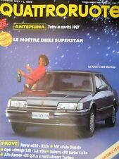 Quattroruote 375 1987 Rover 820 Sterling. Prove Alfa Romeo 33, Ford Escort [Q80]