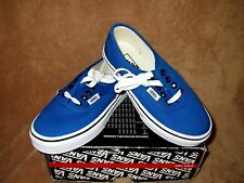 NEW VANS AUTHENTIC SHOE SNORKEL BLUE/BLACK YOUTH 12.5Y