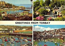 B101723 greetings from torbay ship bateaux  uk