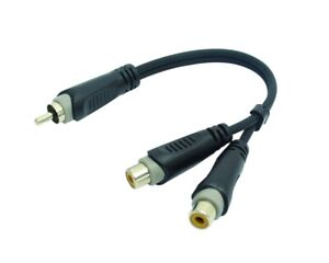 """8 inch RCA Male to 2 RCA Female Great Quality Audio Adapter Y Splitter Cable- 8"""""""