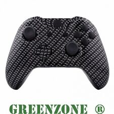 Black Carbon Fibre Xbox One Replacement Controller Shell Mod Kit + Buttons Kit