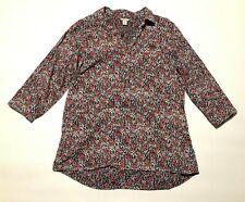 L.L. Bean womens floral print shirt size L