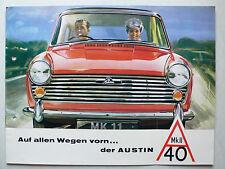 Prospekt Austin A 40 MK II, ca.1963, 12 Seiten