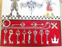 12pcs/Set Kingdom Hearts II KEY BLADE Necklace Pendant+Keyblade+Keychain Silver