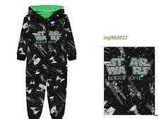 kids / boys unisex HOODED Jumpsuit , all in one STARWARS  6 -16  100% COTTON