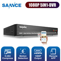 SANNCE 8CH 1080P 5IN1 DVR Digital Video Record for CCTV Security Camera System