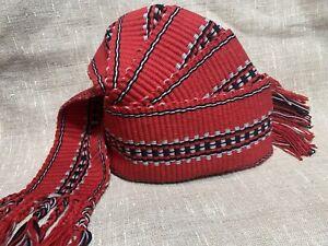 "Belt, Cotton Man Belt, Handmade Belt ""Soul Of Fire"", Slavic Thick Sash, Ukraine"