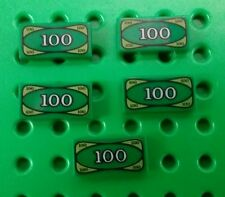 *NEW* Lego Bulk Green $100 Notes Money Cash Minifigures Figs Figures - 5 pieces