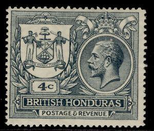 BRITISH HONDURAS GV SG123, 4c slate, LH MINT. Cat £14.