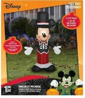 3.5-ft  Lighted Mickey Mouse Halloween Inflatable Airblown Disney  NEW Fast Ship