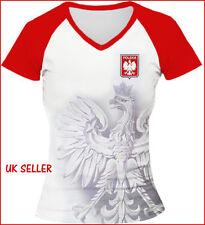 POLAND LADIES WOMENS FOOTBALL FANS T-SHIRT SIZE S POLSKA POLISH