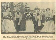 1954 Roche Carnival Queen Barbara Jago Mr J Rule Thomas