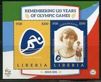 LIBERIA  2016 RIO OLYMPICS REMEMBERING 120 YEARS OF OLYMPIC GAMES KAROLINE RADKE