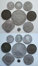 More details for india & states - 9 coins to incl  silver rupee of victoria 1893 - view for id