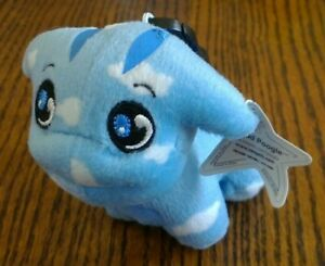 2005 Neopets McDonald's CLOUD POOGLE Plush with Star Tag and Meepit Petpet clip