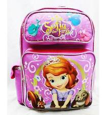 """NWT Sofia the First 14"""" Medium Backpack Bag Pink Newest Style Licensed by Disney"""