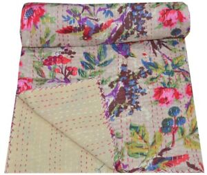 Handmade Broderie Kantha Double Couverture Inde
