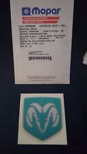 New OEM Teal Dodge Avenger Ram Emblem Badge MR769460