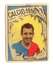 CALCIO FIGURINA  CALCIATORI   VAV  CAMPIONATO 1950   GENOA   BECCATINI
