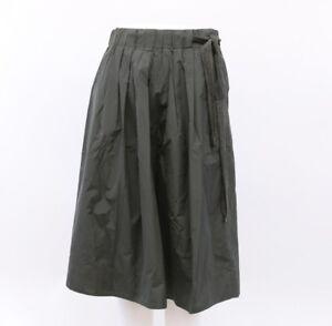 NWT$1545 Brunello Cucinelli Textured Silk Beaded Drawstring Flare Skirt42/6 A181