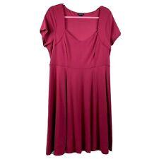 Torrid 2 Dress Fit Flare Skater Burgundy 2x Plus Women stretch knit