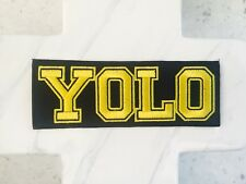 YOLO you Only Live Once Yellow Moto Embroidered Iron On Patches Patch