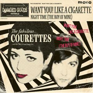 "The Courettes - Want You! Like a Cigarette 7"" single PINK VINYL *Garage Rock*"