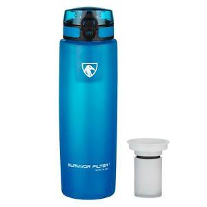 SURVIVOR FILTER Filter Water Bottle Active Filtration Bottle (900mL) Made in USA