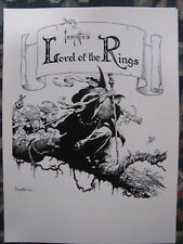 Frank Frazetta-Lord of the Rings portfolio RARE New w/ COA  numbered to 1000
