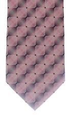 Seidenkrawatte gemustert rose Marken Krawatte 100% Seide Herren  Motiv Monti