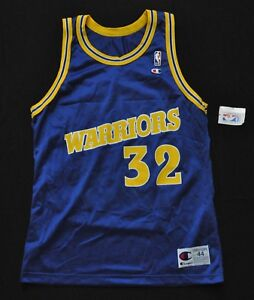 JOE SMITH Golden State Warriors Jersey Champion Blue 44 L NWT