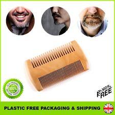 ECO Beard Moustache Hair Brush Comb Mens Natural Bamboo Care Wood Shaving UK
