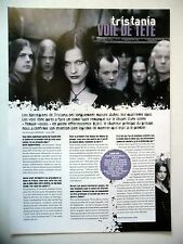 COUPURE DE PRESSE-CLIPPING :  TRISTANIA  02/2005 Kjetil Ingebrethsen,Ashes
